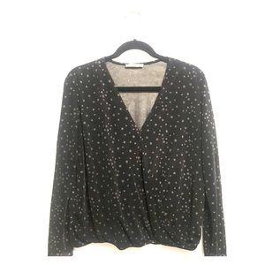 Mango Star Print Long sleeve blouse